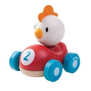 Petite voiture coq de course  'planwood'  plantoys