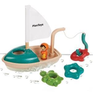 Plantoys jouets 'bateau de pêche 'planwood'  - jouets de bain