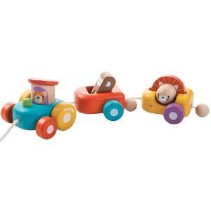 Plantoys jouets train des animaux