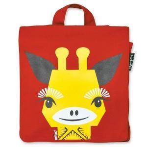 Coq en pâte sac à dos enfant maternelle girafe rouge - mibo