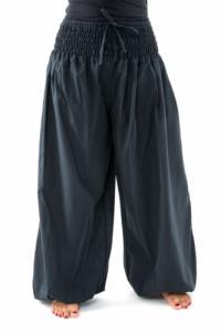 Pantalon elastique bouffant femme noir uni Mia