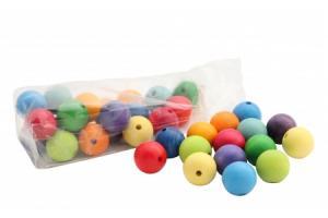 36 Perles en bois (30 mm)