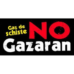 Gaz de schiste - No Gazaran (Autocollant )
