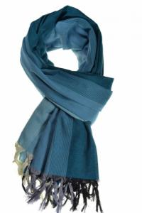 Cheche foulard coton basic ethnic degrade bleu