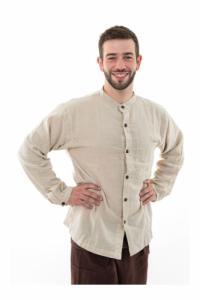 Chemise boutons en coco coton leger chanvre Lee