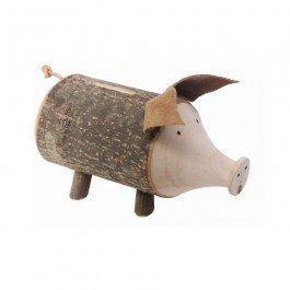 Tirelire Cochon écorce