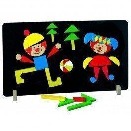 Tableau de jeu magnétique Clowns