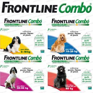 Frontline Combo pour chien selon le poids