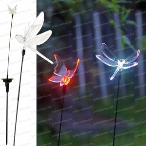 Papillon ou libellule lumineux solaire