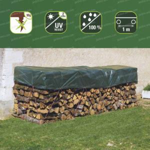 Bâche de protection spéciale tas de bois - 2m x 8m