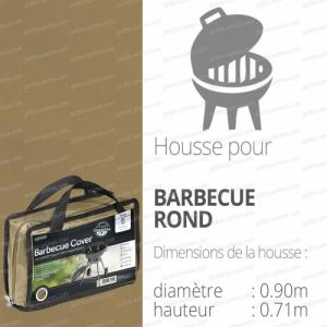 Housse bache protection barbecue rond diam. 90cm couleur beige