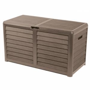 Coffre de rangement Baya couleur taupe en résine 420L