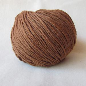 Fil à tricoter 100% Mérinos caramel aiguille 4