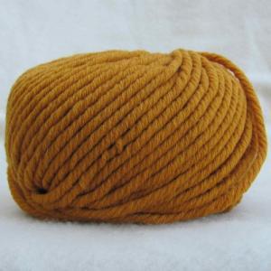 Fil à tricoter 100% laine Mérinos Moutarde aiguille 7 -- 8