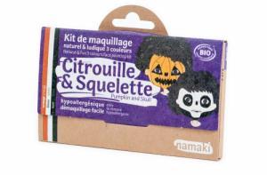 Kit de Maquillage 3 couleurs Citrouille et Squelette