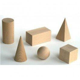 Pièces géométriques en bois