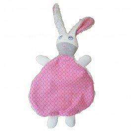 Doudou Lapin rose - coton biologique