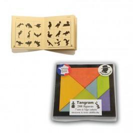 Tangram en bois coloré