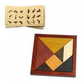 Tangram en bois naturel