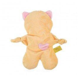 Doudou Flat Cat jaune et rose bébé