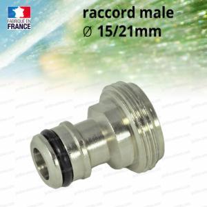 Raccord adaptateur male 15-21mm