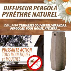 Diffuseur Anti-Moustiques extérieur   télécommande cartouche pyrèthre vendue séparément