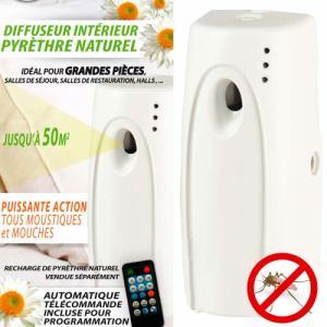 Diffuseur Anti-Moustiques intérieur au pyrèthre   télécommande bonbonne pyrèthre vendue séparément