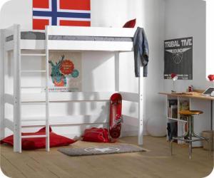 Lit Mezzanine Enfant Clay Blanc 90x190 cm