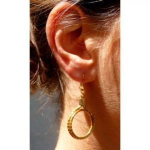 Boucles d'oreilles cercle double Capim petit modele