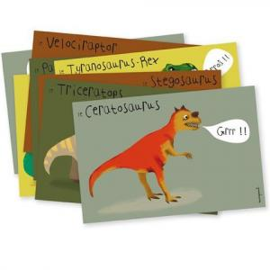 Mes cartons d'invitations : Dinosaures