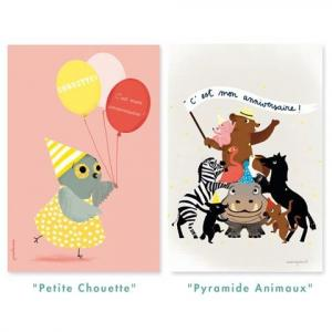 Mes cartons d'invitations : Pyramide d'animaux