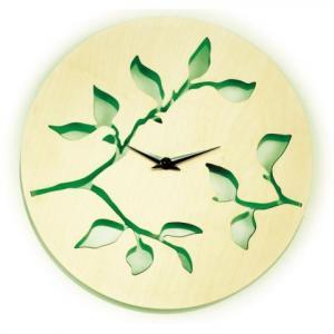 Horloge murale en noyer