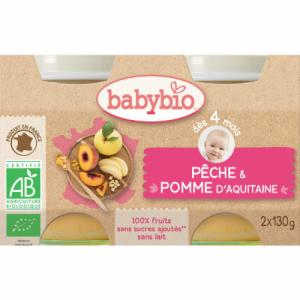 Petits pots fruits Babybio dès 4-6 mois Pomme Fraise (6m)