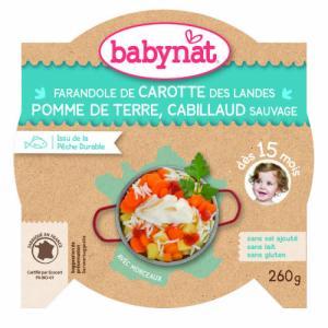 Assiette Menu Babybio 15 mois Carotte Pomme de terre Cabillaud