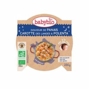 Assiette Bonne Nuit Babybio 12 mois Panais, carotte et riz