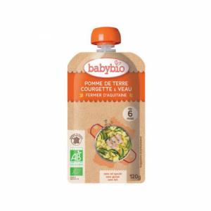 Gourde Menu Babybio 6 mois Pomme de terre Courgette Veau