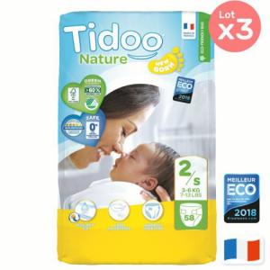 Pack éco x 3 Couches Tidoo Taille 2 mini