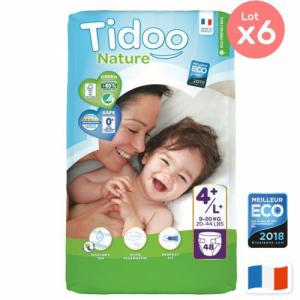 Pack éco x 6 Couches Tidoo Taille 4 maxi plus