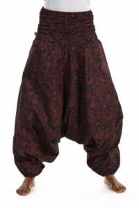 Pantalon sarwel femme smocke spirale ethnique chic