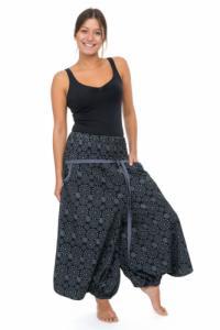 Sarouel jupe pantacourt femme ceinture elastique Kolami