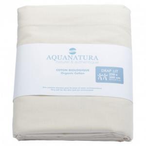 Drap dessus coton bio Aquanatura Couleur coton naturel Dimensions 250x300