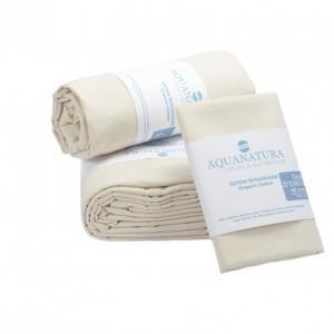 Parure de draps en coton bio Aquanatura Couleur coton naturel Dimensions 90x190 (3 pièces)