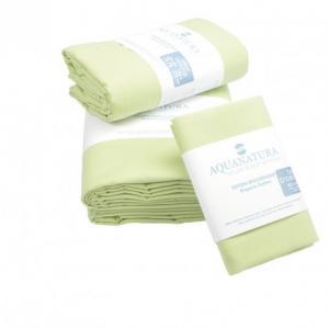 Parure de draps en coton bio Aquanatura Couleur Vert Dimensions 90x190 (3 pièces)