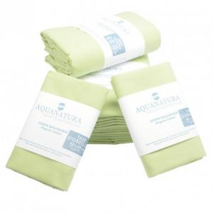 Parure de draps en coton bio Aquanatura Couleur Vert Dimensions 140x190 (4 pièces)