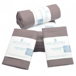 Parure de draps en coton bio Aquanatura Couleur Cassis Dimensions 140x190 (4 pièces)