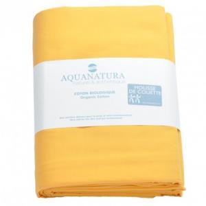 Housse de couette coton bio Aquanatura Couleur Jaune Dimensions 240x220