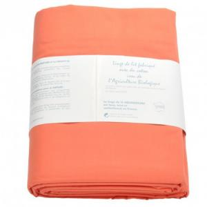 Housse de couette coton bio Aquanatura Couleur Corail Dimensions 240x220