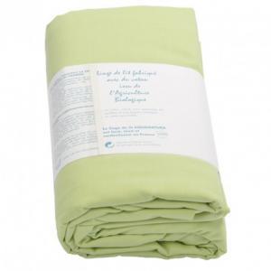 Drap housse coton bio Aquanatura Couleur Vert Dimensions 90x190