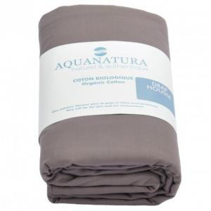 Drap housse coton bio Aquanatura Dimensions 90x190 Couleur Cassis