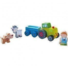 Le tracteur de Pierre et ses animaux
